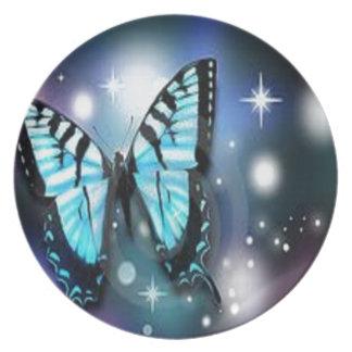chispa-mariposa platos para fiestas