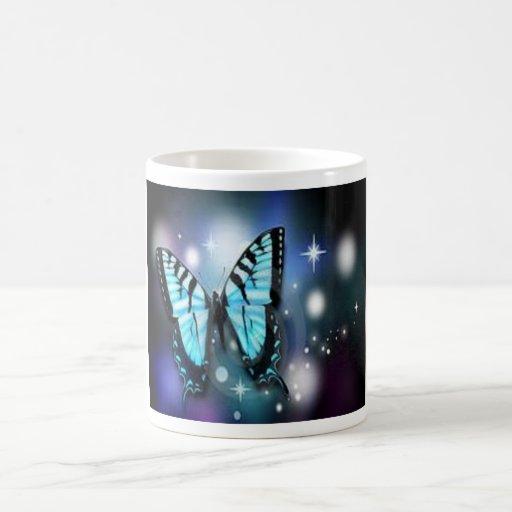 chispa-mariposa taza de café