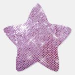 Chispa-Mirada rosada Calcomanías Forma De Estrella