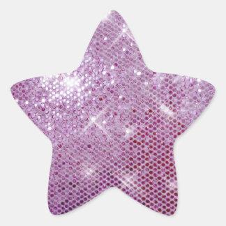Chispa-Mirada rosada Pegatina En Forma De Estrella