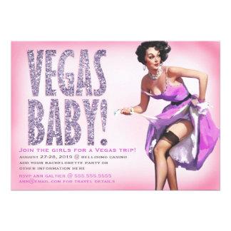 Chispa modela del chica del bebé de 311 Vegas Invitacion Personal