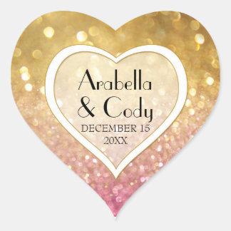 Chispa primera de Ticket Style Gold Pink de la Pegatina En Forma De Corazón