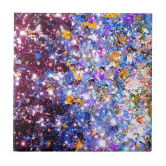 Chispa púrpura azul Ombre de las estrellas de la Tejas Cerámicas