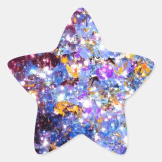 Chispa púrpura azul Ombre de las estrellas de la Calcomania Cuadrada Personalizada