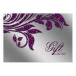 Chispa púrpura de la tarjeta de registro del regal tarjeta de visita