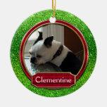 Chispa roja verde de la foto del ornamento FALSA p Ornamentos De Navidad