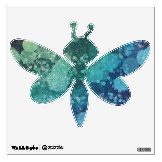 Chispas abstractas del verde azul del brillo - vinilo adhesivo
