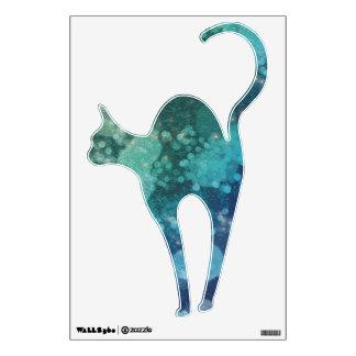 Chispas abstractas del verde azul del brillo - vinilo decorativo