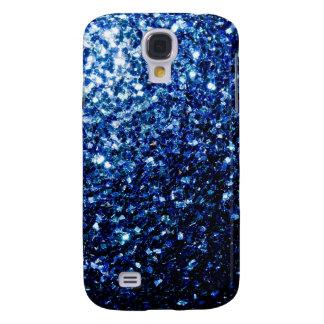 Chispas azul marino hermosas funda para galaxy s4