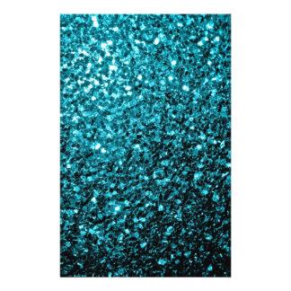 """Chispas azules del brillo de la aguamarina hermosa folleto 5.5"""" x 8.5"""""""