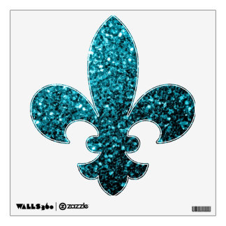 Chispas azules del brillo de la aguamarina hermosa vinilo adhesivo