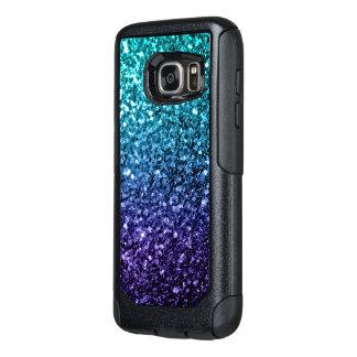 Chispas azules del brillo de Ombre de la Funda Otterbox Para Samsung Galaxy S7