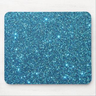 Chispas azules lindas del brillo alfombrillas de ratones