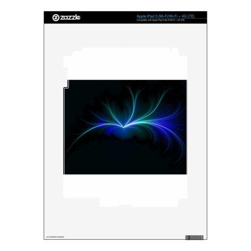 Chispas azules pegatinas skins para iPad 3