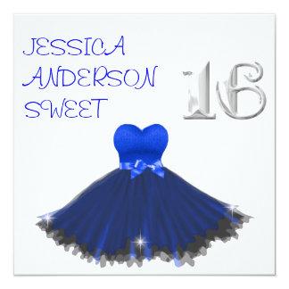 Chispas blancas del vestido del negro azul del anuncios