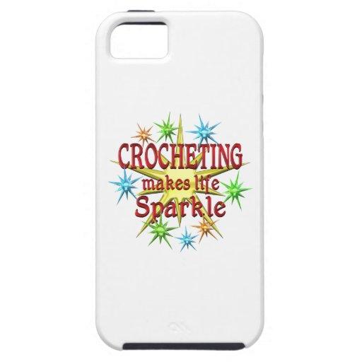 Chispas Crocheting Funda Para iPhone 5 Tough
