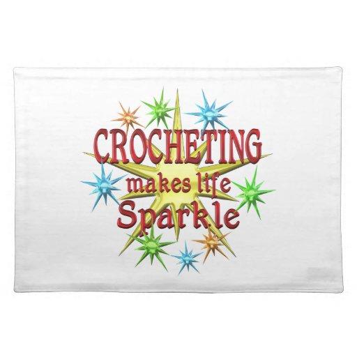 Chispas Crocheting Manteles Individuales