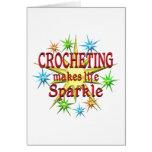 Chispas Crocheting Tarjeton