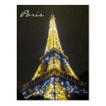 chispas de Eiffel Tarjeta Postal