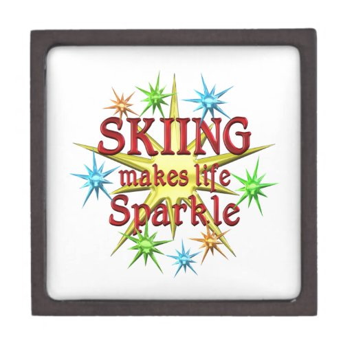 Chispas de esquí caja de joyas de calidad