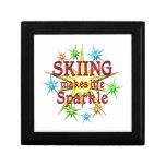 Chispas de esquí cajas de joyas