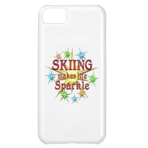 Chispas de esquí funda para iPhone 5C