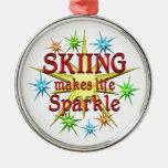 Chispas de esquí ornamento para reyes magos