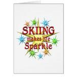 Chispas de esquí tarjeton
