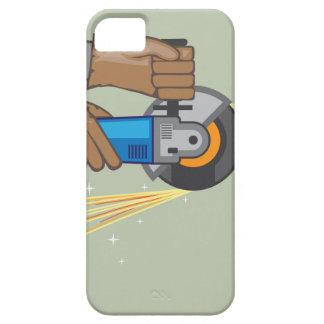 Chispas de la amoladora funda para iPhone SE/5/5s