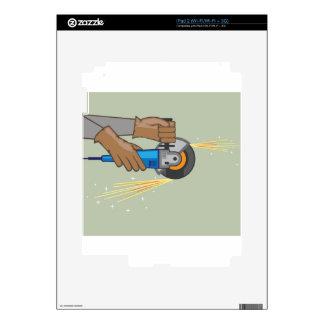 Chispas de la amoladora iPad 2 calcomanía
