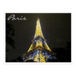chispas de la noche de Eiffel Postales