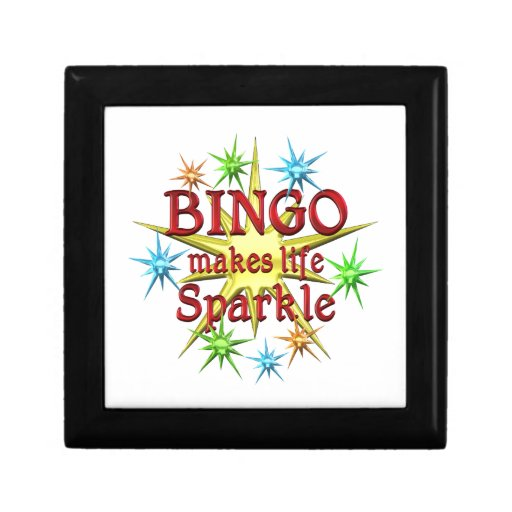 Chispas del bingo cajas de regalo