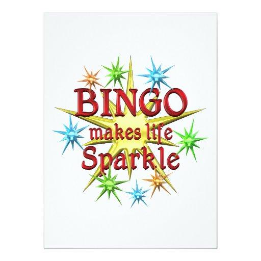 """Chispas del bingo invitación 5.5"""" x 7.5"""""""