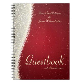 Chispas del deslumbramiento del Guestbook del boda Libretas Espirales