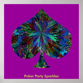 Chispas del fiesta del póker póster