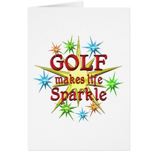Chispas del golf felicitacion