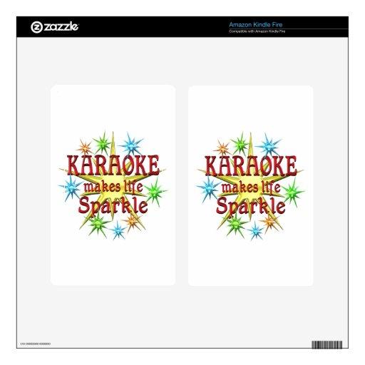 Chispas del Karaoke Pegatinas Skins Para Kindle Fire
