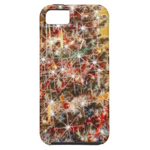 Chispas del navidad iPhone 5 protectores