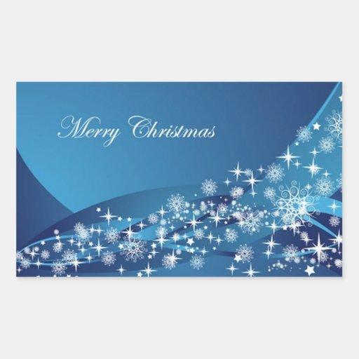 Chispas del navidad pegatina rectangular