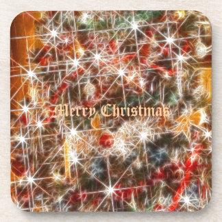 Chispas del navidad posavasos