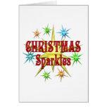 Chispas del navidad tarjetas