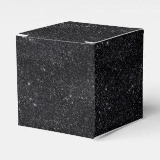 Chispas del negro caja para regalos de fiestas