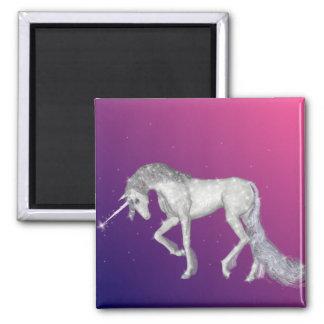 Chispas del unicornio imán cuadrado