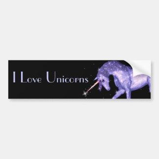 Chispas del unicornio pegatina de parachoque