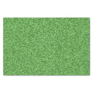 Chispas del verde del trébol papel de seda pequeño