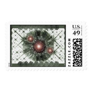 Chispas del verde timbre postal