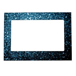 Chispas hermosas del brillo de los azules cielos marcos magnéticos de fotos