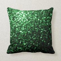 Chispas hermosas del brillo del verde del encanto almohada