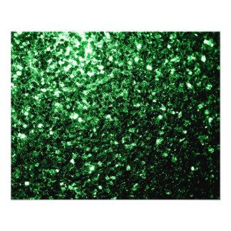 """Chispas hermosas del brillo del verde del encanto folleto 4.5"""" x 5.6"""""""