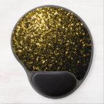 Chispas hermosas del oro amarillo alfombrilla con gel